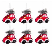 Елочная игрушка (6.7х4.4х7 см) Машинка с елочкой 864-105