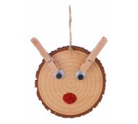 Елочная игрушка (10х1х8.5 см) Подвеска Олень 845-113