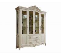 Витрина Милано MK-1877-IV 4-дверная (цвет патины: золото)