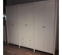 Шкаф Тильда MK-6824-PPG 6-и дверный (цвет патины: розовое золото)Жемчужный