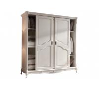 Шкаф Shantal MK-5014-WG трехдверный белый с золотом