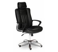 Кресло компьютерное Oxford кожзам, чёрный