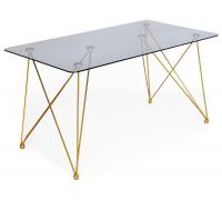 Стол «Vulcano» (mod. DT1423) (черный/золотой)